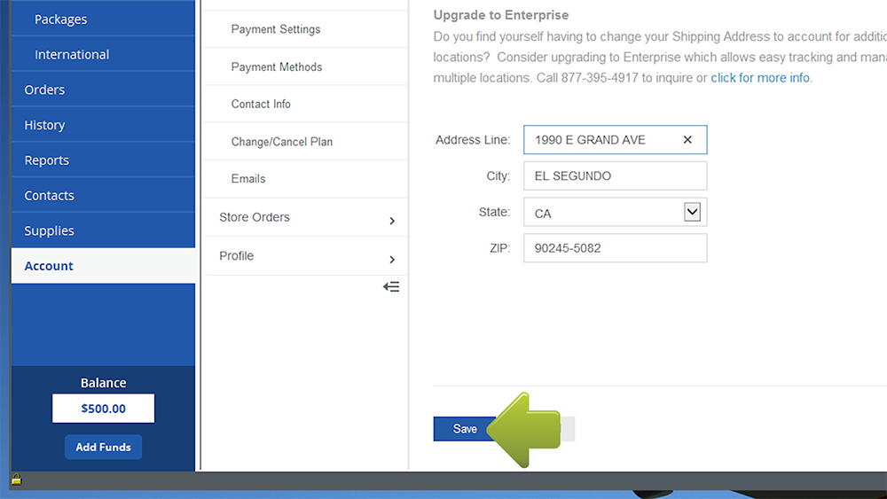 how to change your address on ebay app