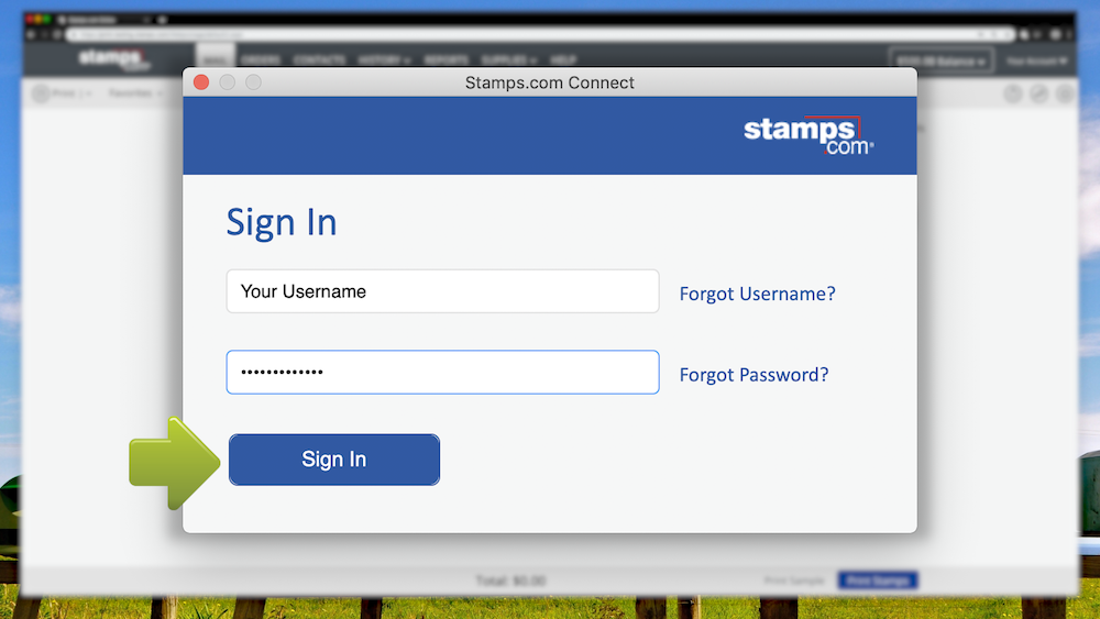 How to Install Stamps com Connect