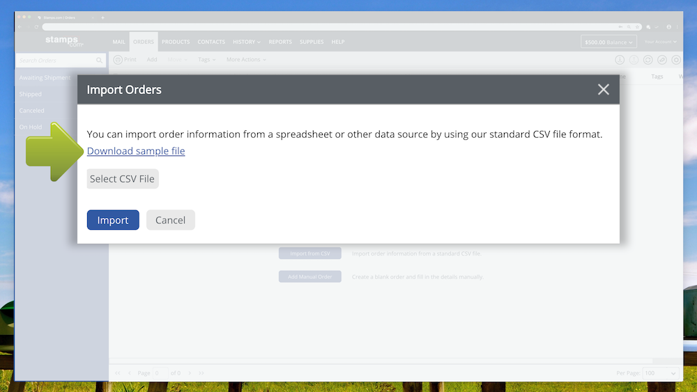 How to Import Orders from a CSV or Text file