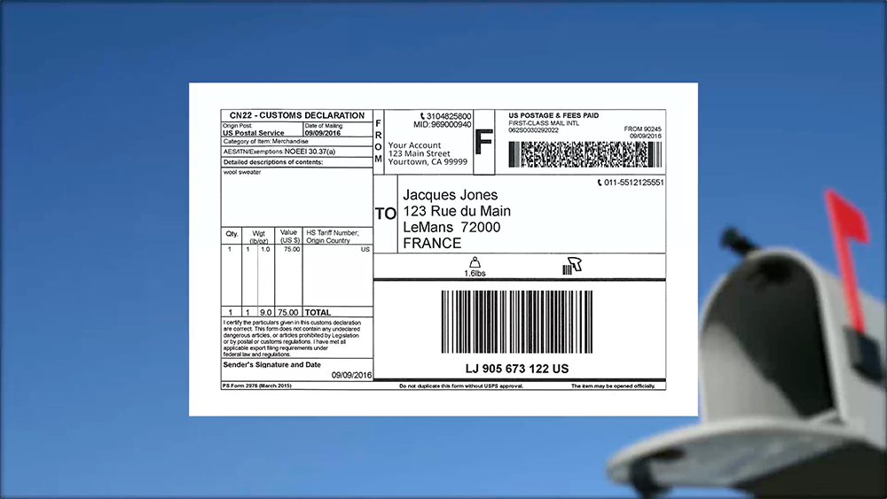 How to ship an international package to see us customs requirements per mail class usps customs forms requirements thecheapjerseys Images
