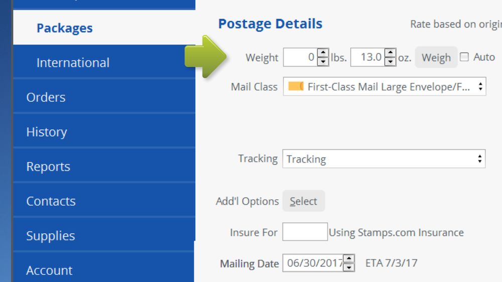 if your large envelope or flat weighs 14 ounces or more it can be sent by priority mail tracking is free with priority mail we suggest using priority mail