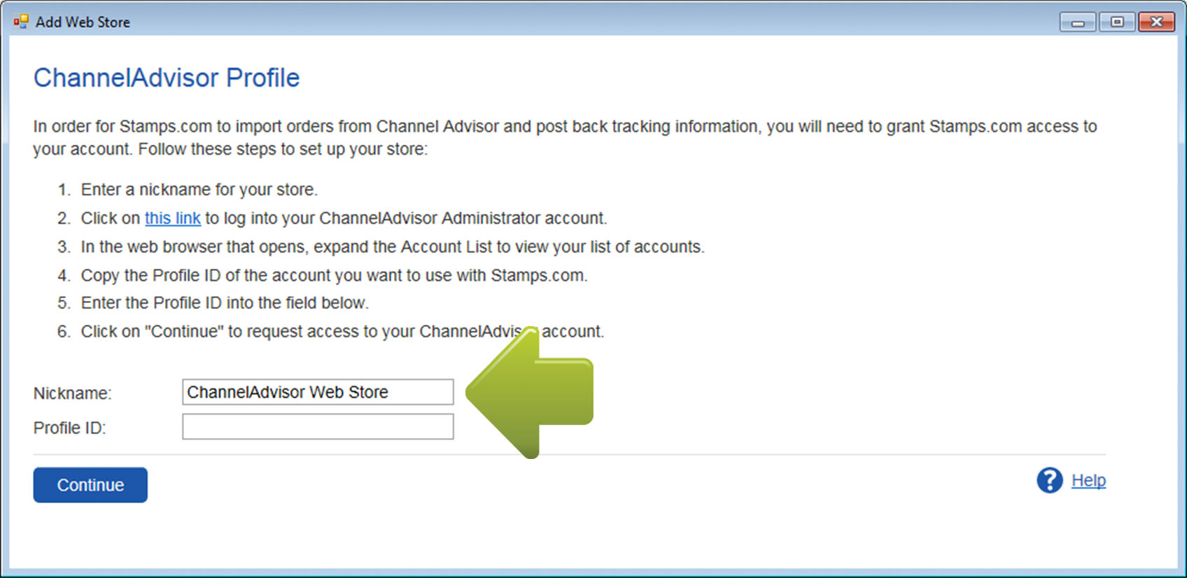 How to Connect to ChannelAdvisor PC Software Legacy