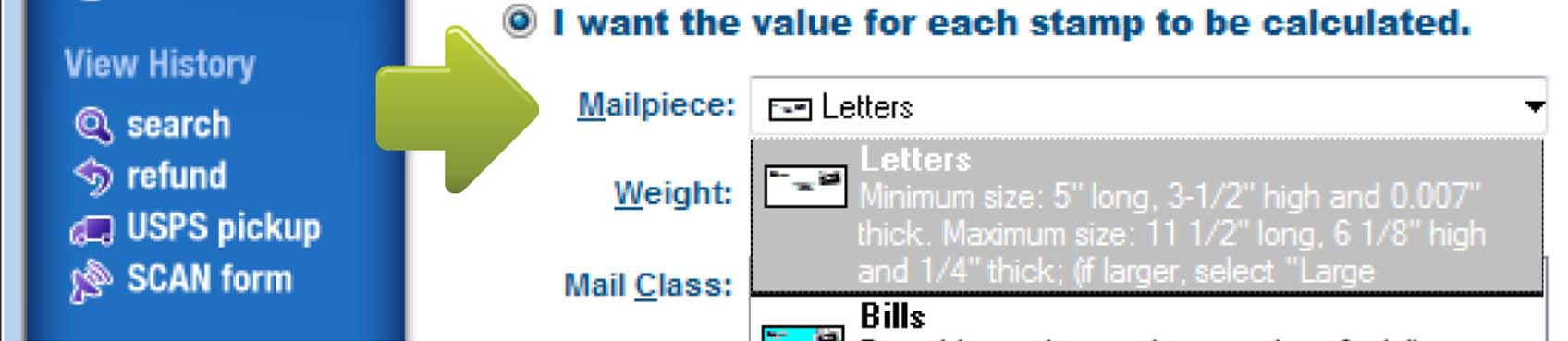 Stamps Automatically Sets The Weight At 1 Ounce Which Is About Equal To A Letter With 5 Pages If You Think Your Envelope May Weigh More Than One