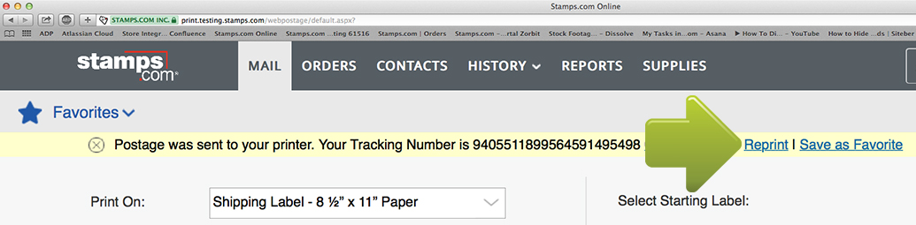 Stamps com tracking not updating