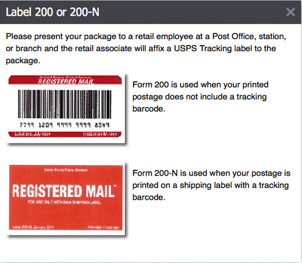How to prepare registered mail for How to send a shipping label