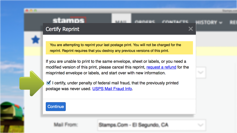 How to Reprint Postage