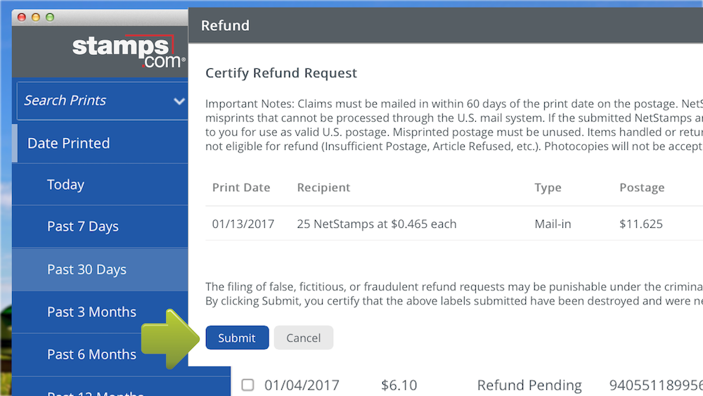 How To Refund Postage