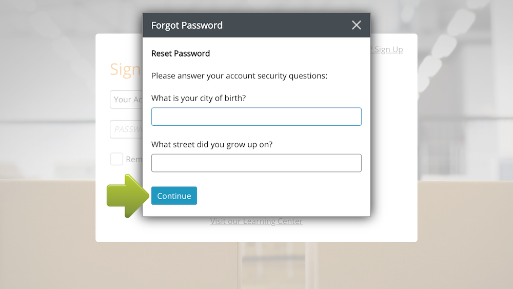 How to Reset Your Password