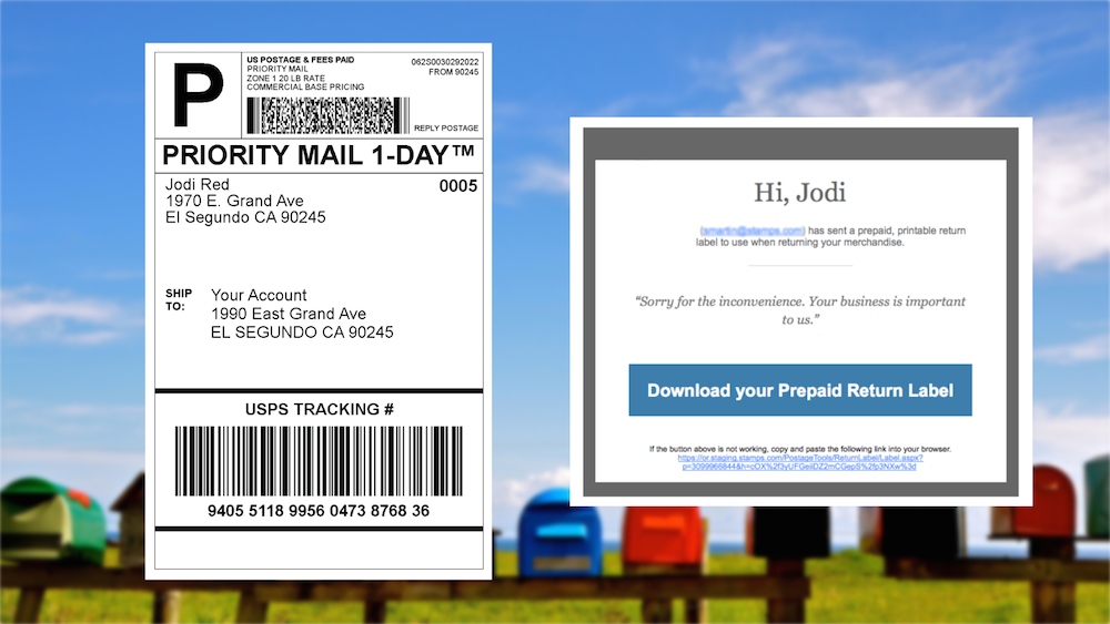 Usps Return Label >> How To Send A Return Shipping Label