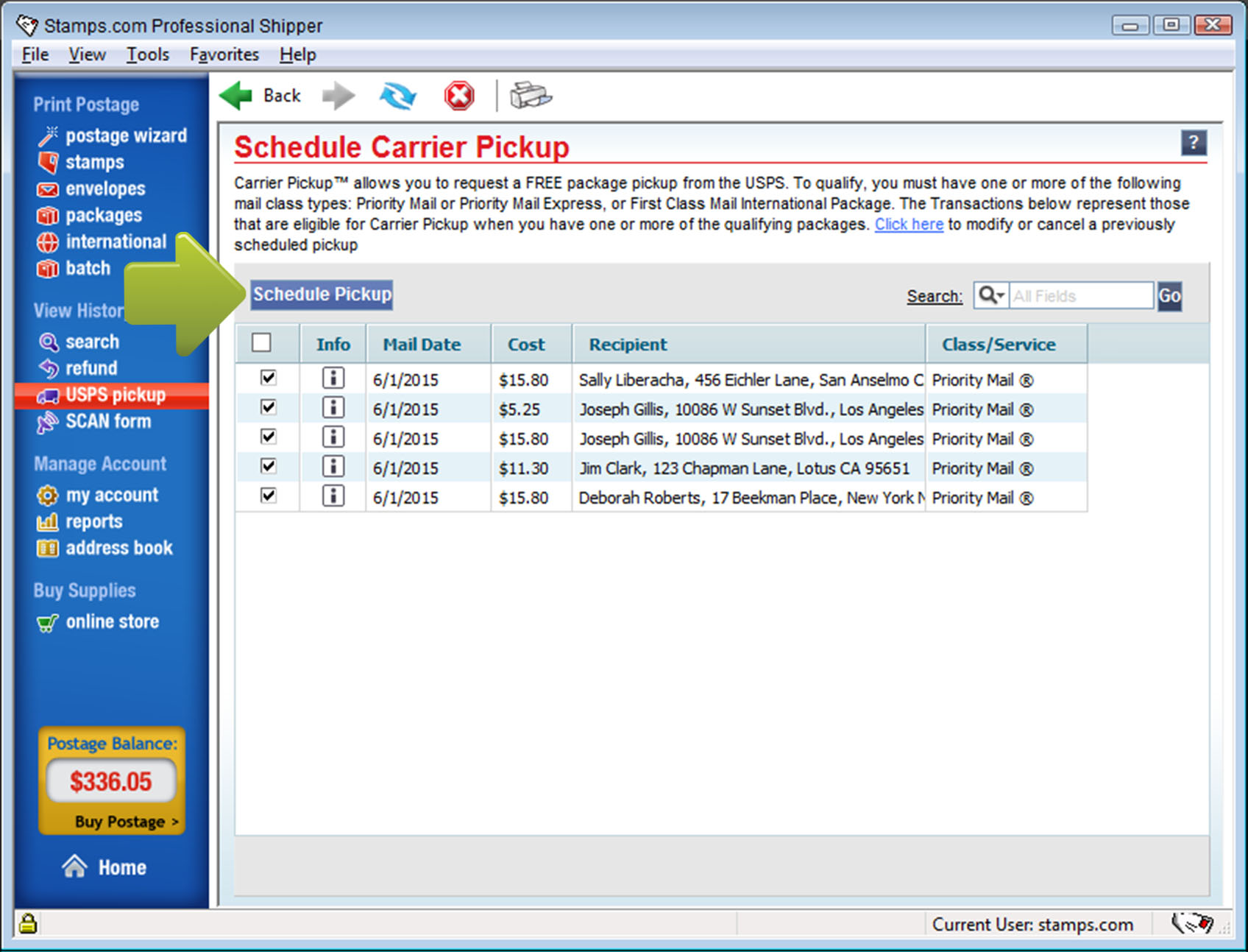 how to schedule a free usps pickup pc software legacy