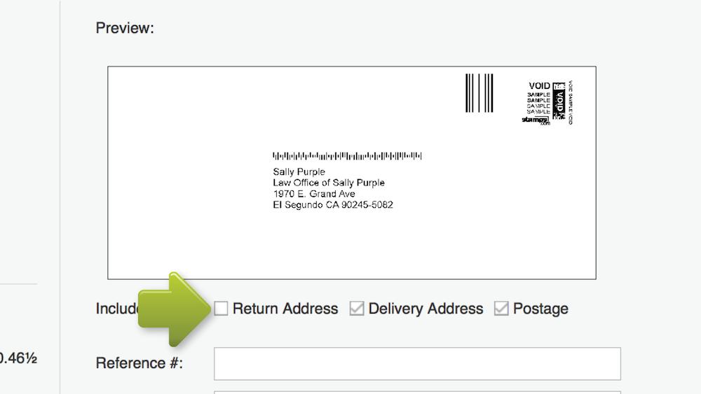 return address on envelope