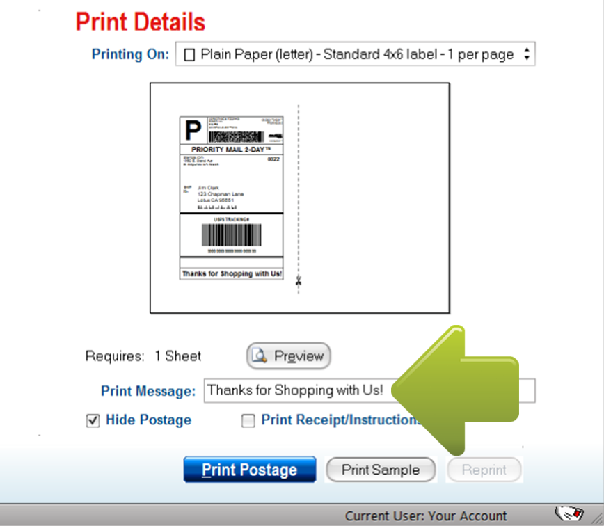 How To Add A Message Or Reference Number To A Shipping Label
