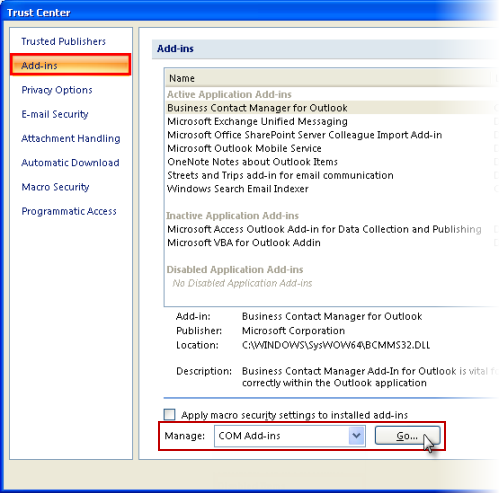 outlook contact manager download