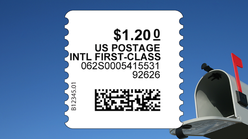 You have just quickly and easily prepared postage for an International Letter.