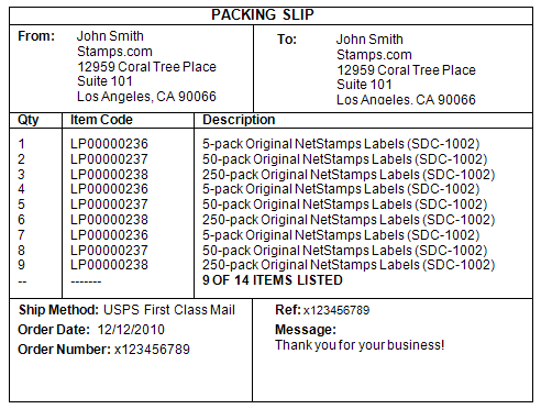 Printing a Packing Slip – Packing Slips for Shipping